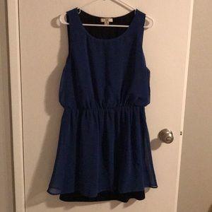 👗 Royal Blue Cinch Waist Dress 👗